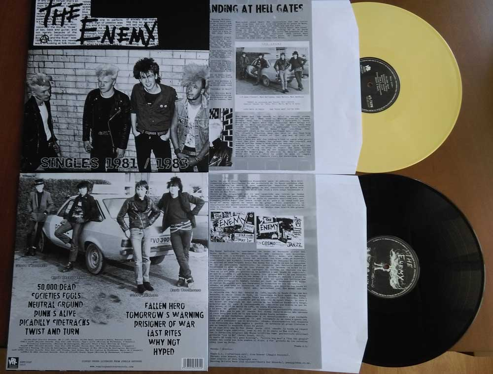 THE ENEMY SINGLES 1981/1983