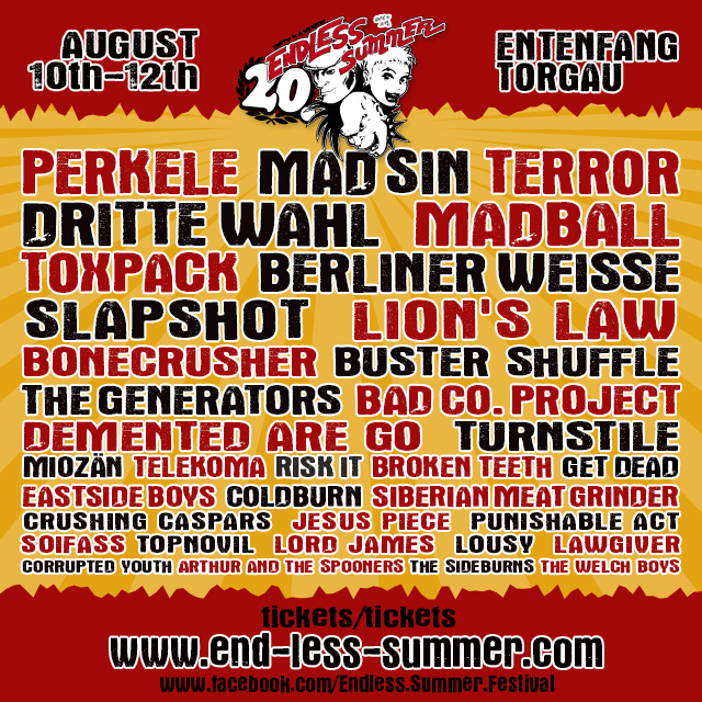 ENDLESS SUMMER TAGESPLANUNG!