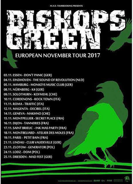 BISHOPS GREEN EUROPA TOUR 2017!