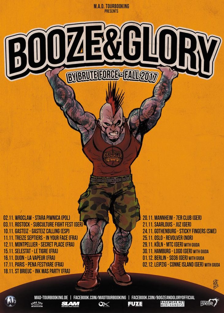 BOOZE AND GLORY HERBST TOUR 2017!