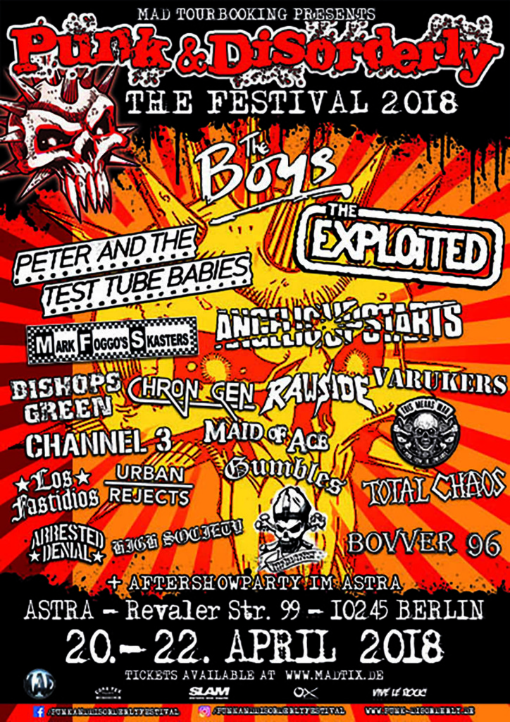PUNK & DISORDERLY FESTIVAL 2018!